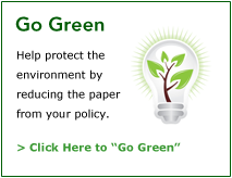 Go Green with Patriot Insurance Company | Click Here